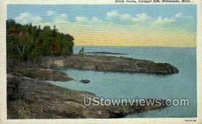 Black Rocks, Presque Isle - Marquette, Michigan MI Postcard