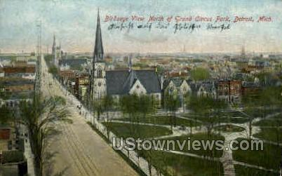 North of Grand Circus Park - Detroit, Michigan MI Postcard