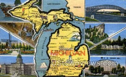 Misc, Michigan, MI Postcard