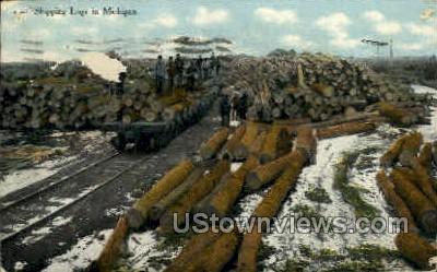 Shipping Logs - MIsc, Michigan MI Postcard