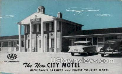 New City motel - Detroit, Michigan MI Postcard