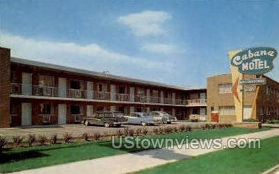 The Cabana Motel - Detroit, Michigan MI Postcard