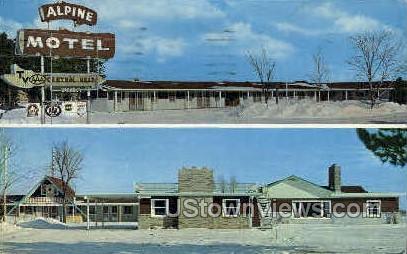 Alpine Motel - Gaylord, Michigan MI Postcard