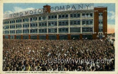 Ford Motor Company - Detroit, Michigan MI Postcard