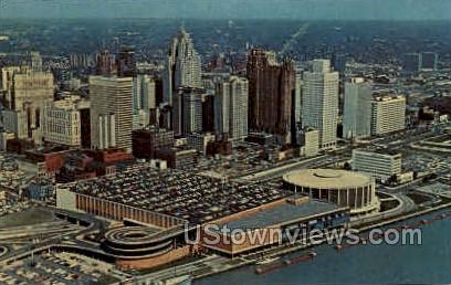 Detroit Civic Center - Michigan MI Postcard