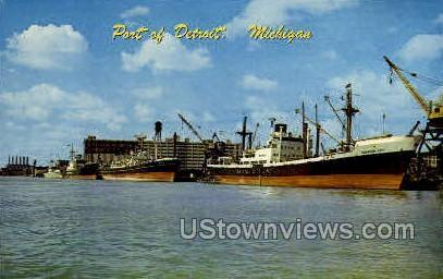 Port of Detroit - Michigan MI Postcard