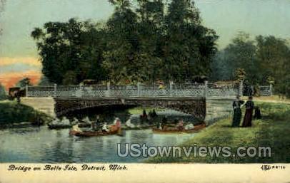 Bridge on Belle Isle - Detroit, Michigan MI Postcard