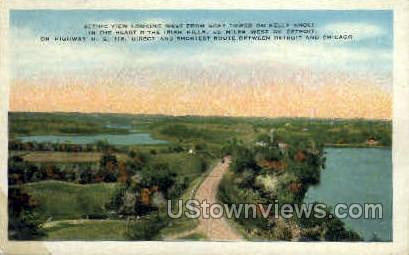 Gray Tower on Kelly Knoll - Detroit, Michigan MI Postcard