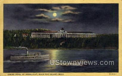 Grand Hotel - Mackinac Island, Michigan MI Postcard