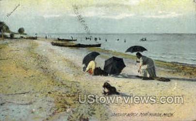 Lakeside Beach - Port Huron, Michigan MI Postcard