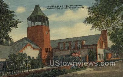 Brookside School Cranbrook - Bloomfield Hills, Michigan MI Postcard