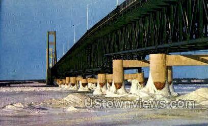 The Mackinac Bridge - Mackinac Island, Michigan MI Postcard