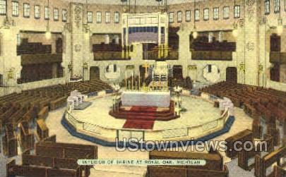 Shrine at Royal Oak - Michigan MI Postcard