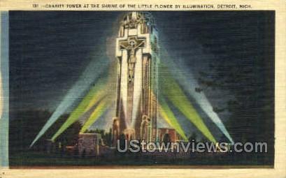 Charity Tower - Detroit, Michigan MI Postcard