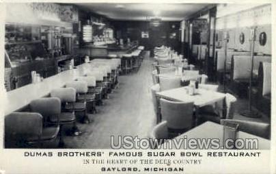 Dumas Brothers Sugar Bowl Rest. - Gaylord, Michigan MI Postcard