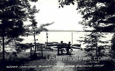 Weed's Idyll Wild Beach - Gaylord, Michigan MI Postcard