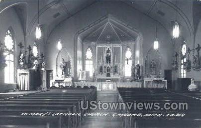 St. Mary's Catholic Church - Gaylord, Michigan MI Postcard