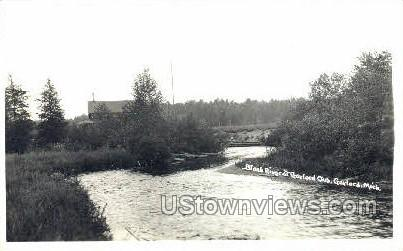 Black River - Gaylord, Michigan MI Postcard