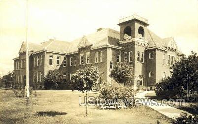 High School, Gaylord - Michigan MI Postcard