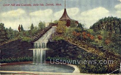 Cedar Hill & Cascade, Belle Isle - Detroit, Michigan MI Postcard
