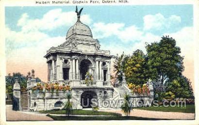 Hulbert Memorial - Detroit, Michigan MI Postcard
