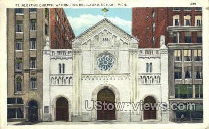 St. Aloysius Church - Detroit, Michigan MI Postcard