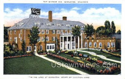 The Mather Inn - Ishpeming, Michigan MI Postcard