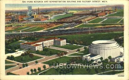 Ford Rotunda - Detroit, Michigan MI Postcard