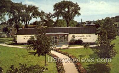 Info Center, The Soo Locks - Sault Ste Marie, Michigan MI Postcard