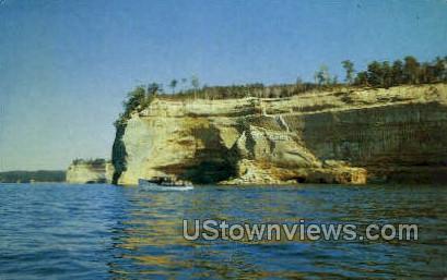 Grand Portal, Battleship Point - MIsc, Michigan MI Postcard