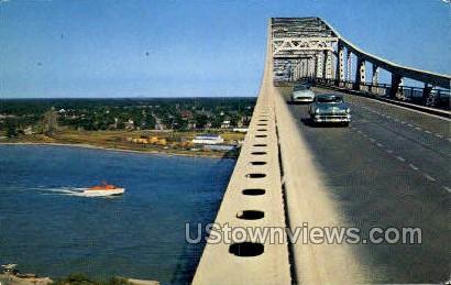 Blue Water Bridge - Port Huron, Michigan MI Postcard