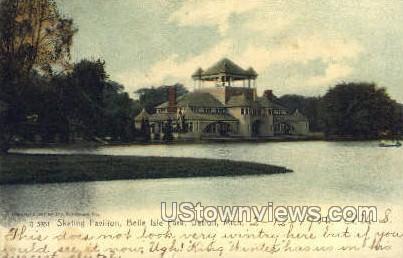 Skating Pavilion, Belle Isle Park - Detroit, Michigan MI Postcard