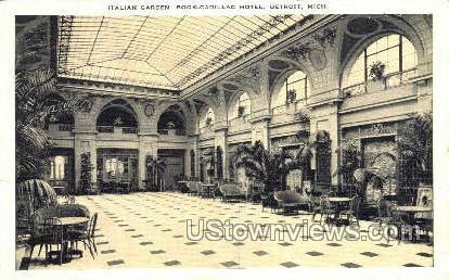 Italian Garden - Detroit, Michigan MI Postcard