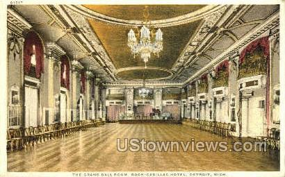 Grand Ball Room - Detroit, Michigan MI Postcard
