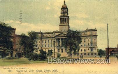 Wayne Co. Court House - Detroit, Michigan MI Postcard