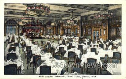 Main Arabian Restaurant, Hotel Tuller - Detroit, Michigan MI Postcard