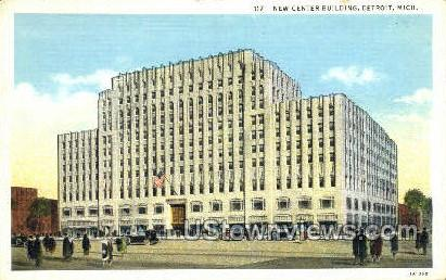 New Center Bldg - Detroit, Michigan MI Postcard