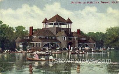Pavilion, Belle Isle - Detroit, Michigan MI Postcard
