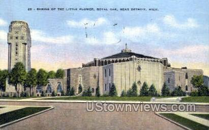 Shrine of the Little Flower - Detroit, Michigan MI Postcard