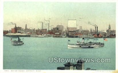 Water Front - Detroit, Michigan MI Postcard