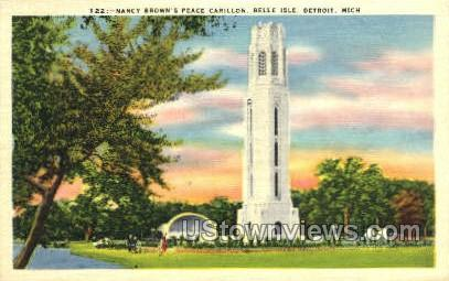 Nancy Brown's Peace Carillon - Detroit, Michigan MI Postcard