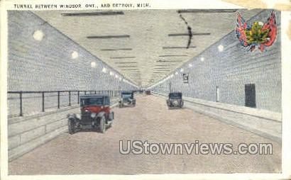 Tunnel, Windsor - Detroit, Michigan MI Postcard