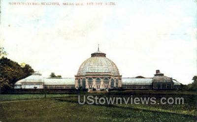 Horticultural Bldg, Belle Isle - Detroit, Michigan MI Postcard