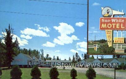 Sno White Motel - Sault Ste Marie, Michigan MI Postcard