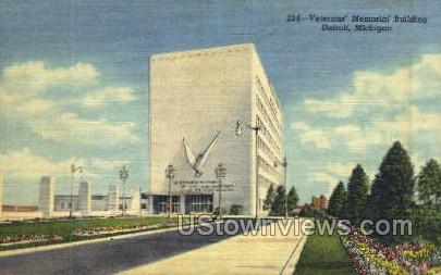 Veteran's Memorial Bldg - Detroit, Michigan MI Postcard