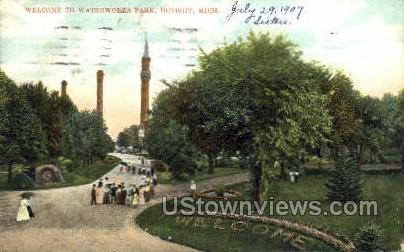 Waterworks Park - Detroit, Michigan MI Postcard