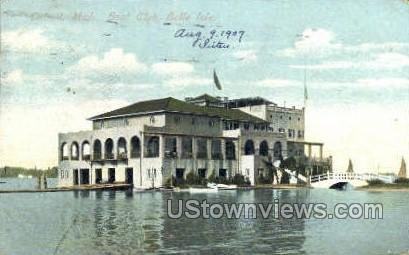Boat Club, Belle Isle - Detroit, Michigan MI Postcard