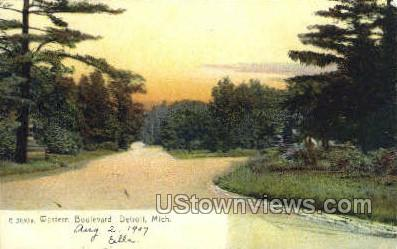 Western Blvd - Detroit, Michigan MI Postcard