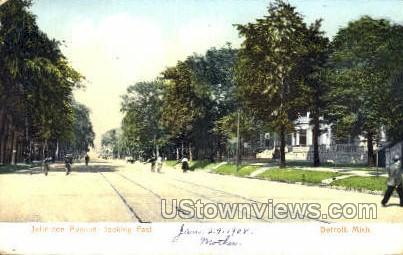 Jefferson Ave. - Detroit, Michigan MI Postcard