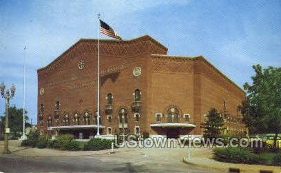 I.M.A Auditorium - Flint, Michigan MI Postcard